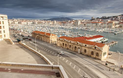 View of the old port of Marseille Stock Image