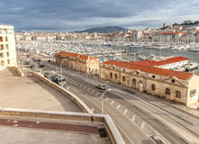 View of the old port of Marseille Royalty Free Stock Images