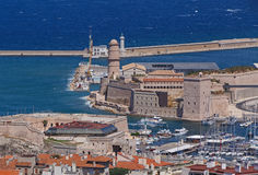 View on Old Port of Marseille Stock Image