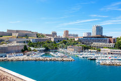 View on old port in Marseille, France Royalty Free Stock Image