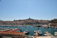 View of the old port of Marseille Royalty Free Stock Photo