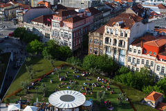 View of old Porto downtown from Clerigos Tower. Stock Photos