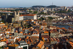 View of old Porto downtown from Clerigos Tower. Royalty Free Stock Photography