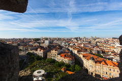 View of old Porto downtown from Clerigos Tower. Stock Images