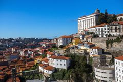 View of the old Porto downtown, Portugal. Travel. Royalty Free Stock Image