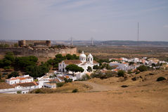 View on old portugal city, Castro Marim, Portugal Royalty Free Stock Images