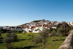 View of old portugese city -Estramuz Royalty Free Stock Photography