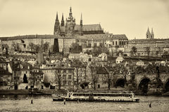 View of old Prague and St. Vitus Cathedral. Stock Photos
