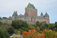View of old Quebec and the Château Frontenac Stock Images