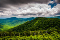 View of Old Rag and Piedmont from Skyline Drive in Shenandoah National Park Stock Images
