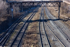 View of the old railroad tracks Stock Image