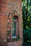 red brick house window royalty free stock photos