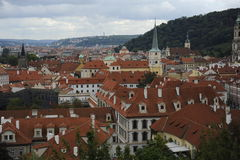 View of old red tiles roofs in the city prague czech republic europe beautiful Stock Photo