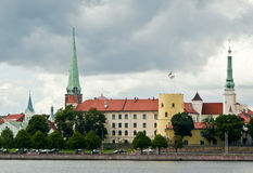 View on the old Riga city, Latvia Stock Images
