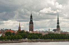 View on the old Riga city, Latvia Stock Photos