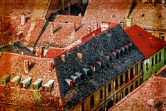 View of the old roof in Novi Sad, Serbia 2 Royalty Free Stock Image