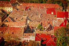 View of the old roof in Novi Sad, Serbia 1 Royalty Free Stock Images