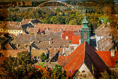 View of the old roof in Novi Sad, Serbia Stock Image