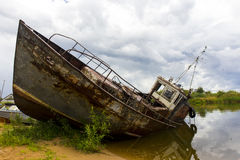 View on old rusty boat Royalty Free Stock Images
