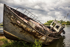 View on old rusty boat Stock Image