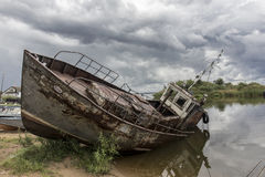 View on old rusty boat Royalty Free Stock Photography
