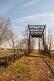 View at an old rusty drawbridge Stock Image