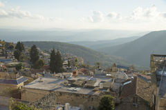 View of Old Safed cityscape  in Israel. Royalty Free Stock Photos