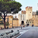 View of the old Scaliger castle in Sirmione, Italy Stock Photography