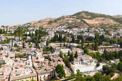View to Granada from Alhambra Palace Spain Stock Image