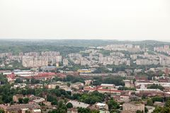 View of old small city Lviv Royalty Free Stock Photos