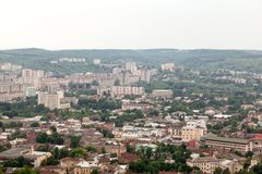View of old small city Lviv Royalty Free Stock Images