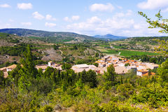 View of old small town. Portel-des-Corbieres Royalty Free Stock Photo