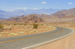 View from old Spanish Trail Highway, Nevada, USA Stock Photos