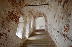 View of old stairs шт Rostov Kremlin Russia stock photo