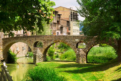 View of old stone bridge in Vic Stock Images