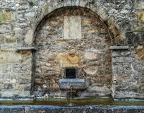 View of old stone fountain royalty free stock images