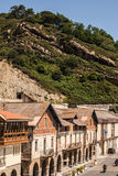 View of the old street and buildings Getaria, Spain, Europe Stock Photography