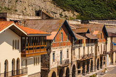 View of the old street and buildings Getaria, Spain, Europe Royalty Free Stock Photo
