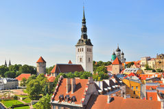 View of  Old Tallinn Stock Photos