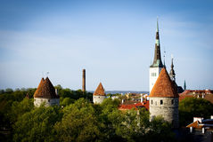 View of old Tallinn. Stock Image