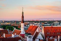 View of old Tallinn. Estonia royalty free stock photos