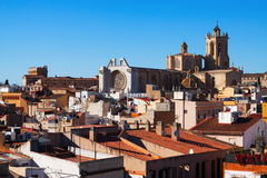 View of  old Tarragona and  Cathedral Stock Image