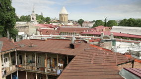 View of old Tbilisi, Georgia stock footage