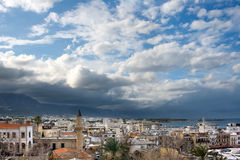 View of old town. Panorama of the Girne, Cyprus Royalty Free Stock Photo