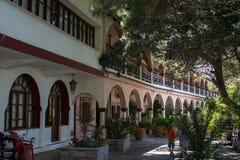 View of the old town of Agios Nikolaos in Crete. Stock Photo