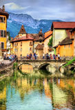 View of the old town of Annecy. France Royalty Free Stock Photography