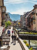 View of the old town of Annecy - France Royalty Free Stock Photos