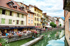View of the old town of Annecy - France Royalty Free Stock Images