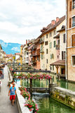 View of the old town of Annecy - France Royalty Free Stock Image