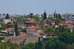 View of the old town of Antalya. Turkish resort Antalya. Historical part of Antalya, Turkey Stock Image